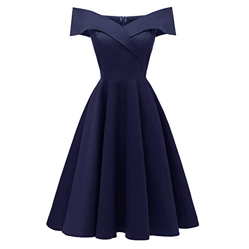 iLUGU Colorful Midi Dress For Women Sleeveless V-Neck A-Line Empire Line Princess Cocktail Party Gown