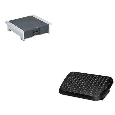 KITFEL48121FEL8032601 - Value Kit - Fellowes Printer/Fax Machine Stand (FEL8032601) and Fellowes Standard Footrest (FEL48121)