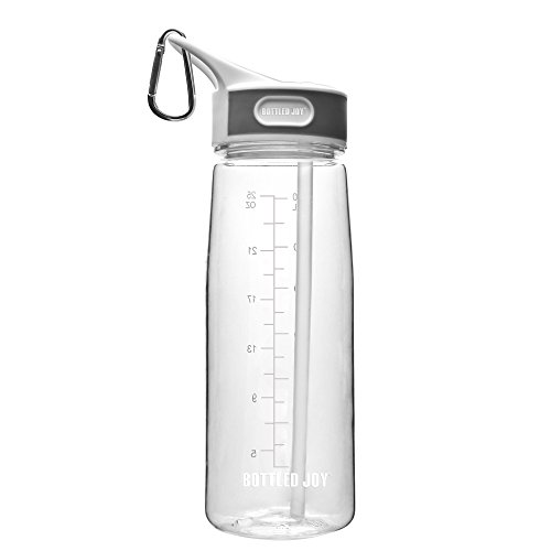 BOTTLED JOY sports bottle with straw,Tritan water bottle with handle,Sports water bottle 27 oz 800ml ,BPA-FREE drinking bottle for Outdoor/Indoor /Running/Camping/Gym/Bicycle