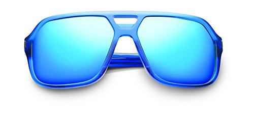 Hunter Matte Midway Blue and Antique Brass Frames With Pacific Blue Flash - Kardashian Kim Dior Sunglasses