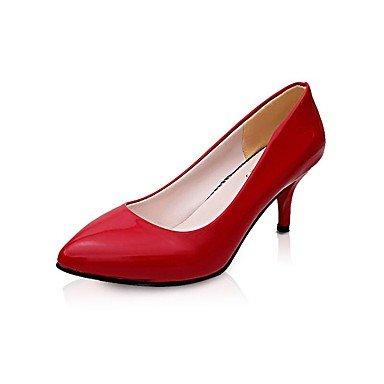 Talones de las mujeres Zapatos Primavera Verano Otoño Invierno club Comfort PU Oficina boda y vestido de la carrera del tacón de aguja informal OthersBlack Rojo Blanco Beige