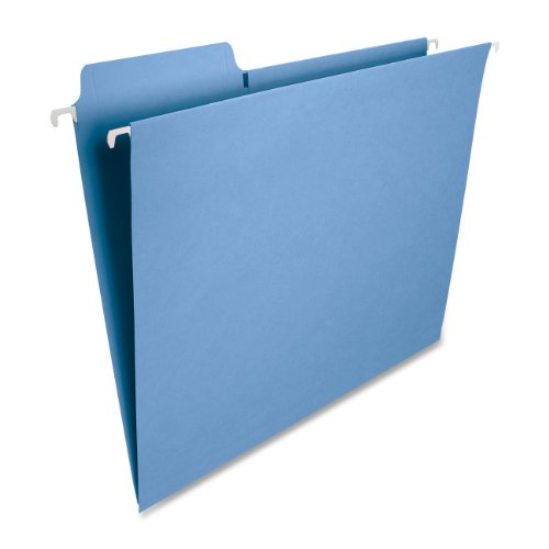 Smead FasTab Hanging File Folder, 1/3-Cut Built-in Tab, Letter Size, Blue, 20 per Box (64099) ()