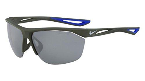 NIKE EV0915-310 Tailwind Sunglasses (Silver Flash Lens), Matte Cargo Khaki/Wolf Grey ()
