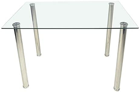 """43"""" Glass Dining Table with Glass Top,..."""
