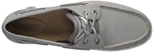 Koifish Women's Medium Top Shoe Grey sider Sparkle Us Sperry Boat 7 nAw4UxqA1
