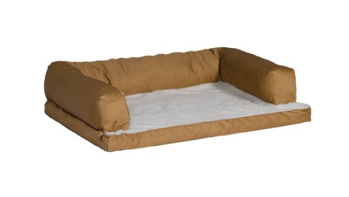 Midwest Quiet Time e'Sensuals Bolstered Orthopedic Pet Bed Sofa 30 Inches by 40 Inches in Tan., My Pet Supplies