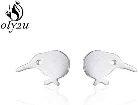 Kiwi Earrings Kiwi post earrings sterling silver Bird Earrings Kiwi Studs 0.0008