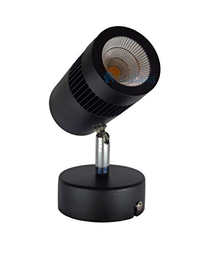 Mufasa 9-Watts Black Body LED Spot/Focus Light, Round