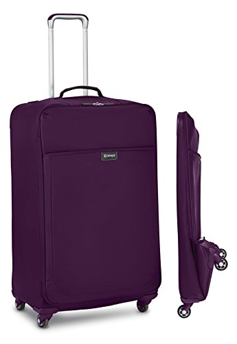 "Biaggi Luggage Leggero Foldable 29"" Spinner Suitcase, Purple"