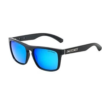 0f9d91f7c2ef Dirty Dog Monza Wayfarer Sunglasses Shiny Black - Polarised Blue Fusion  Mirror Lens 53267  Amazon.co.uk  Sports   Outdoors