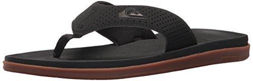 Quiksilver Men's Haleiwa Plus Sandal, Black/Black/Brown, 10 D US (Woven Quiksilver Sandals)