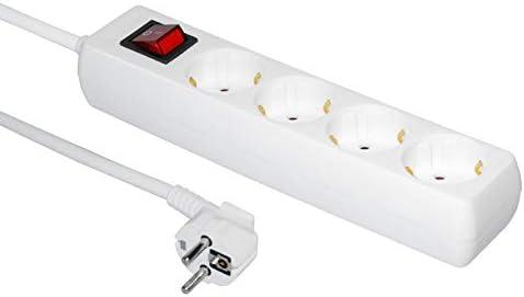 Steckdosenleiste 4 Fach Weiß Elektronik