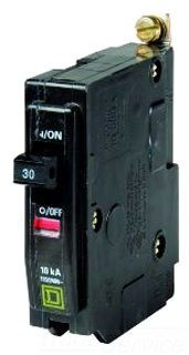 Square D Bolt-On Circuit Breaker, 30 Amp, QOB130
