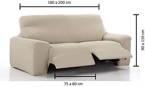 El Tintorer Funda de sofá Bielástica Relax Nice (Sofá Relax 3 plazas, Beig): Amazon.es: Hogar