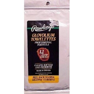 Rawlings Glovolium Towelettes, Professional Formula, Glove Treatment Wipes (Case of 12) by Rawlings
