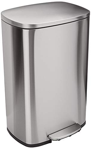 AmazonBasics Rectangle Soft Close Trash Can product image