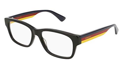 Gucci GG0343O Eyeglasses 009 Black/Multicolor 57 mm ()