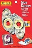 Bulk Buy: Ad-Tech Permanent Glue Runner Refill .31'' X8.75 Yards 2/Pkg 05621 (3-Pack)