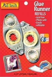 Bulk Buy: Ad-Tech Permanent Glue Runner Refill .31'' X8.75 Yards 2/Pkg 05621 (3-Pack) by Ad-Tech