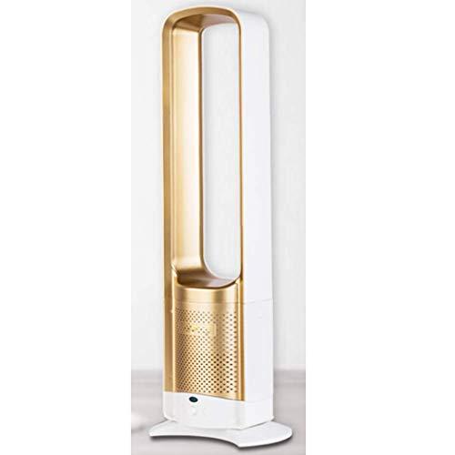 JunbosiTower Fan Bladeless Fan, Desktop Air Cooler with Remote Control Low Noise Safety Fan,Gold,73.5X23.5X9cm
