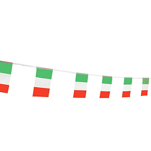 TSMD Italy Flag, 100 Feet Italian Flag National Country World Flags Banner,Party Decorations for Grand Opening,Olympics,World Cup,School Sports Events,Bar,International Festival(8.2