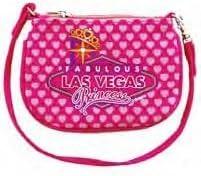 Las Vegas Purse Pink Princess 4.5 x 5.5 Canvas Zipper Top 32053