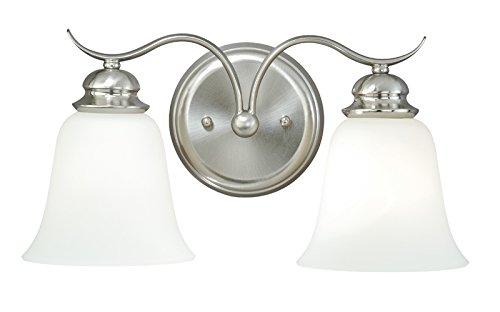 Vaxcel W0090 Darby 2-Light Vanity Light, Satin Nickel