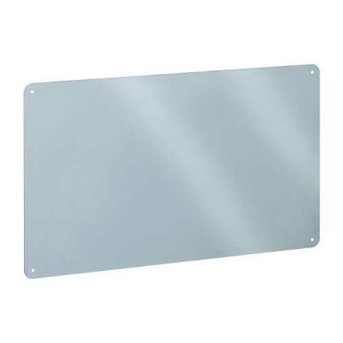 STEELMASTER Flat Style Magnetic Board, 18.5 x 11.5 Inches, Silver -