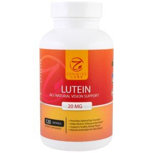 Lutein 20mg Vitamin Supplement with Zeaxanthin - Provides All-Natural Benefits for Eyes - For Healthy Retinal Tissue and Vision - Reduce Eye Strain & Fatigue - Brain & Memory Booster - 120 Softgels Advanced Memory Formula