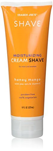 (2 Pack) Trader Joe's Honey Mango Moisturizing Shave Cream with Aloe Vera and Vitamin E for Men and Women - Mango Aloe