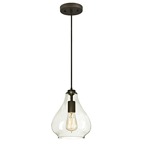 Westinghouse Lighting 6102600 Adjustable Mini Pendant, One-Light, Oil Rubbed Bronze Finish ()