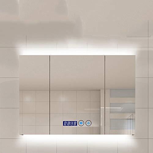 Storage ottoman Bathroom Mirror Cabinet/Bathroom Cabinet/LED Illuminated Bathroom Mirror Cabinet Wall Mounted -