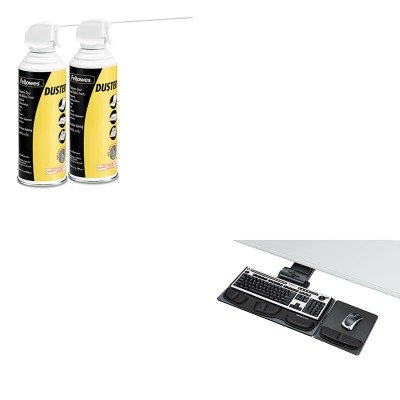 KITFEL8036101FEL9963201 - Value Kit - Fellowes Professional Executive Adjustable Keyboard Tray (FEL8036101) and Fellowes Air Duster (FEL9963201) - Executive Adjustable Keyboard