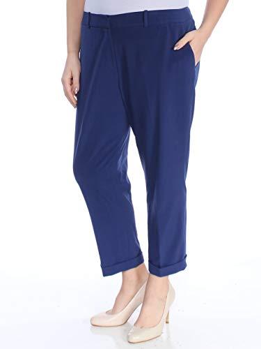 Tahari ASL Women's Petite Shannon Bi-Stretch Pants (14P, Slate) (Tahari 14p)