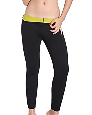 ValentinA Womens Hot Body Shapers Long Pants Slimming Thermo Sweat Sauna Neoprene Pant for Weight Loss S - 4XL