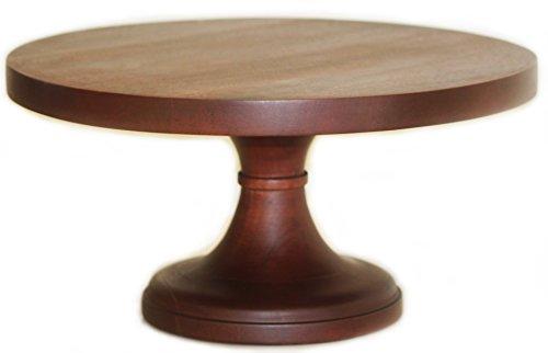 Wood Pedestal Cake Stand 16 Inch Round Wedding Cake - Locations International Hyatt
