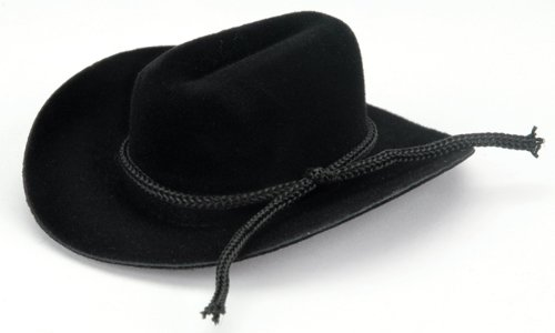 Darice Cowboy Hat with Rope Trim, 2 inches, Black