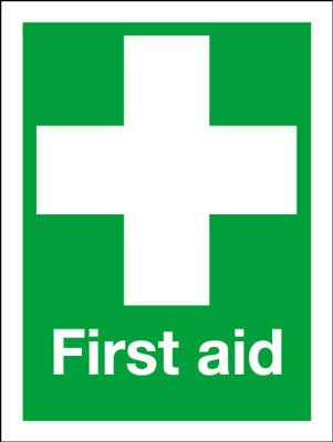 kitchen safety signs first aid safety sign first aid symbol sign amazoncouk