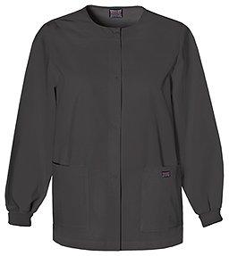 (Cherokee Women's Warm Up Scrubs Jacket, Black, Small)