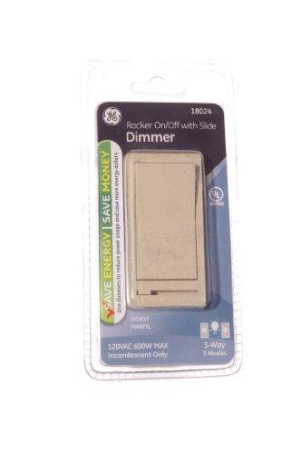 GE 18024 Dimmer, 3-Way, Rocker On/Off with Slide, ()