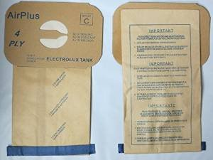 Electrolux Vacuum Replacement Bag (EnviroCare Vacuum Bags for Electrolux Canister - Style C - Generic (Bag of)
