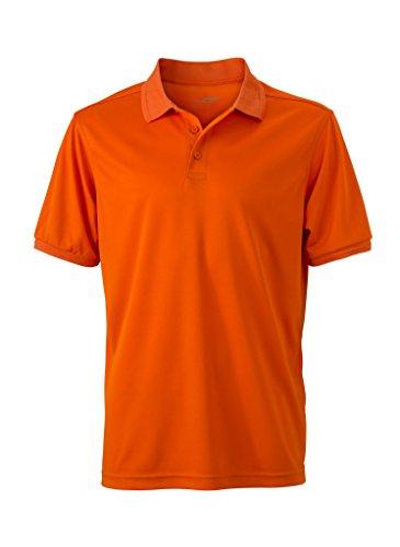 Herren Active Polo | James & Nicholson | JN 576, Farbe:dark orange;Größe:XXL