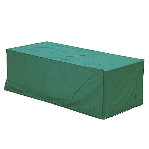 (Garden Furniture Covers Rectangular Patio Table Set Cover Outdoor Waterproof Protective Cover,Green,244X61X107cm)