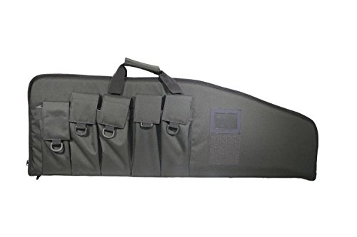 ARMYCAMOUSA Rifle Bag Outdoor Tactical Carbine Cases Water dust Resistant Long Gun Case Bag with Five Magazine Pouches for Hunting Shooting Range Sports Storage and Transport (38