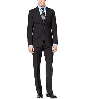 Calvin Klein Mens Slim Two Button Wool Suit Set