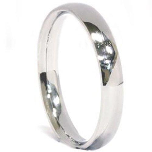 3mm Palladium Plain High Polished Wedding Band Ring - Size 12
