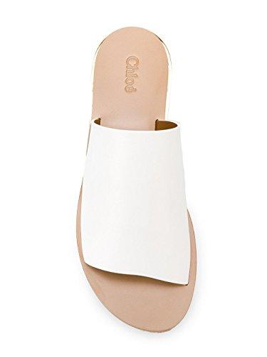 Femme C17S56179101 Cuir Compensées Chaussures Chloé Blanc zqZawaxP