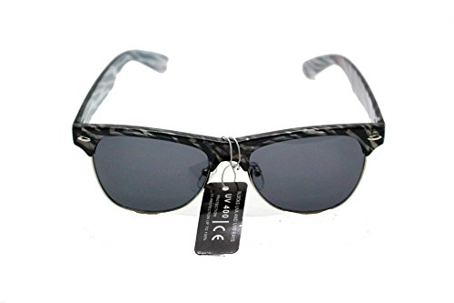 Retro Vintage Clubmaster Style [100% UV Protection] Sunglasses in Animal Print by iViva (Zebra Print)