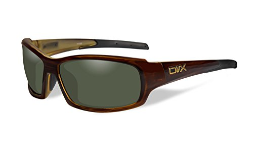 DVX by Wiley X -OCULUS- SUN & SAFETY- POLARIZED GREEN LENSES/ TORTOISE - Sunglasses Dvx