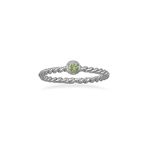 Stackable August Ring Rhodium